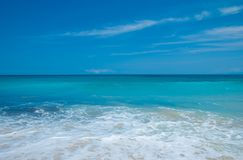 The blue sea and blue sky on the beach Dreamland Royalty Free Stock Image