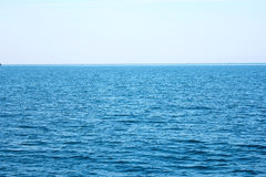 Blue sea and blue sky. Beautiful blue sea and blue sky in Thailand Stock Photo