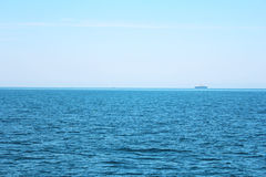 Blue sea and blue sky. Beautiful blue sea and blue sky in Thailand Stock Photos
