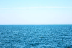 Blue sea and blue sky. Beautiful blue sea and blue sky in Thailand. Clear sky Royalty Free Stock Photo