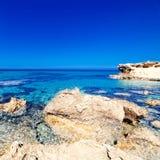Blue sea, blue sky and Paradise Tropical beach / Vacation holida Stock Photography