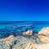 Blue sea, blue sky and Paradise Tropical beach / Vacation holida Royalty Free Stock Photo