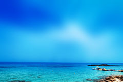 Blue sea, blue sky and Paradise Tropical beach / Vacation holida Royalty Free Stock Images