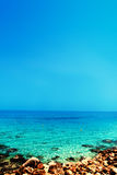Blue sea, blue sky and Paradise Tropical beach / Vacation holida Royalty Free Stock Photography