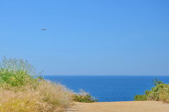 Blue sea and blue sky, summer holidays concept Royalty Free Stock Images