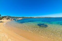 Blue sea in Cala dei Ginepri Stock Photos