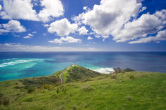 Blue Sea at Cape Reinga Royalty Free Stock Images