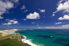 Blue Sea at Cape Reinga Royalty Free Stock Photography