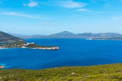 Blue sea in Capo Caccia bay Royalty Free Stock Images