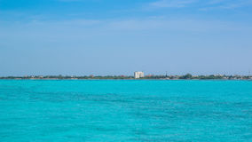 Blue sea of the Caribbean - Isla Mujeres - Cancun Stock Photography
