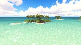 Blue Sea Caribbean stock footage