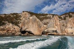 Blue sea, caves, Sardinia Stock Photos