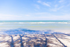 Blue sea with clear sky   Beautiful natural landscape background   Ocean and beach in Thailand Royalty Free Stock Image