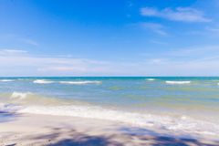 Blue sea with clear sky | Beautiful natural landscape background | Ocean and beach in Thailand Stock Image