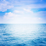 Blue sea with cloud Stock Image
