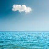 Blue sea and cloud on sky Stock Photo