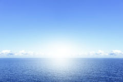 Blue sea and clouds Royalty Free Stock Photo