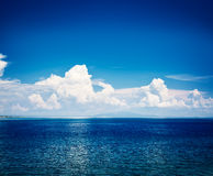 Blue Sea with Clouds Reflection. Adriatic Seascape Stock Photography