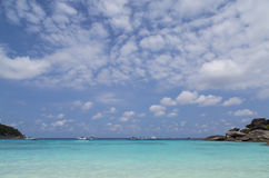 Blue sea and clouds on sky Stock Photography