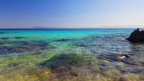 Sea coast. Blue sea coast at summer stock video footage