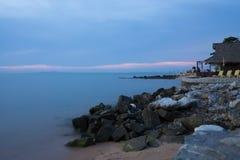 Blue sea. With coastal rock Royalty Free Stock Image