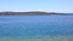Blue sea coastline stock video footage