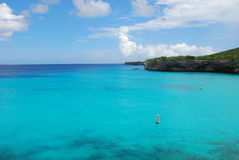 Curacao paradise. The blue Sea , the coastline of the island of curacao royalty free stock photos