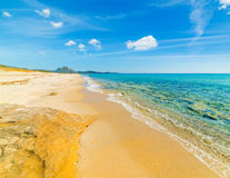 Blue sea in Costa Rei Royalty Free Stock Photography