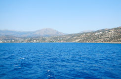 Blue sea in Crete, Greece Royalty Free Stock Images
