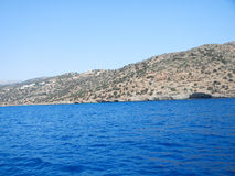 Blue sea in Crete, Greece Royalty Free Stock Photography