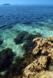 Blue sea, Croatia Stock Images