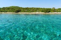 Blue sea in Croatia Royalty Free Stock Photo
