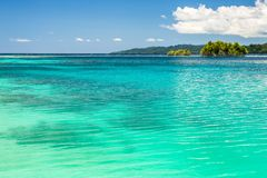 Blue sea in daylight, Togian Islands Royalty Free Stock Images