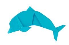 Blue sea dolphin of origami Stock Photo