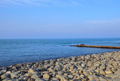 The blue sea Stock Photography