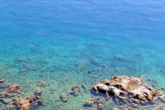 Blue sea. Fantastic blue sea with the rocks in Croatia Stock Image