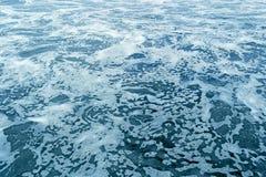 Blue sea foam the the ocean Royalty Free Stock Photo