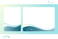 Blue sea frame Royalty Free Stock Photos