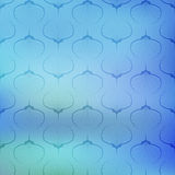 Blue sea geometric vector pattern texture on blurred background. Royalty Free Stock Images