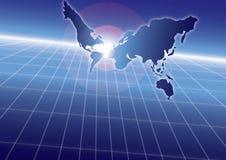 Blue sea globe strategy (with ai file) Stock Photos