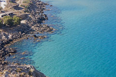 The blue sea at Haraki, Rhodes Stock Photography