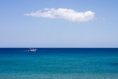 The blue sea at Haraki, Rhodes Royalty Free Stock Photography