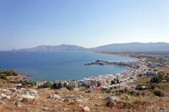 The blue sea at Haraki, Rhodes Royalty Free Stock Images