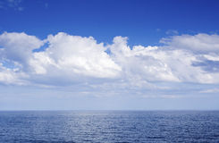 Blue sea horizon Stock Photos