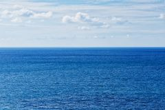 Blue sea and Horizon. Blue sea texture Royalty Free Stock Photos