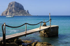 Blue sea at Ibiza Royalty Free Stock Photo