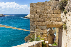 Blue sea of the island of Gozo in Malta Stock Photography