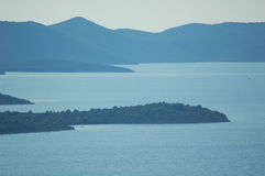 Blue sea islands  Royalty Free Stock Images