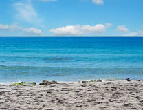 Blue sea in Le Bombarde Royalty Free Stock Photography
