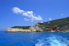 Blue sea,Lefkada island Greece Stock Photos